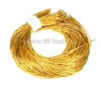 Канитель ОПТ гладкая глянцевая 1 мм, цвет MD-04 желтое золото Индия, упаковка 50 граммов (разные отрезки, общая длина около 28 метров) 058458 - 99 бусин