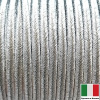 Сутаж премиум Италия 4,5 мм цвет Argento (серебро) 1 метр 058684 - 99 бусин