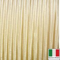 Сутаж Италия 4 мм цвет Crema (кремовый) 1 метр 058685 - 99 бусин