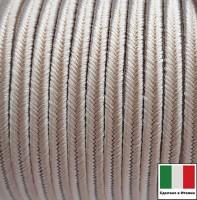 Сутаж премиум Италия 4 мм цвет Frassino (серый ясень) 1 метр 058686 - 99 бусин