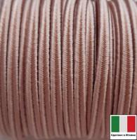 Сутаж премиум Италия 4 мм цвет Rosa antica (винтажная роза) 1 метр 058687 - 99 бусин