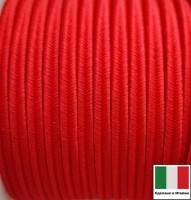 Сутаж премиум Италия 4 мм цвет Rosso (красный) 1 метр 058690 - 99 бусин