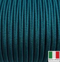 Сутаж премиум Италия 4 мм цвет Verde mare (тёмная морская волна) 1 метр 058694 - 99 бусин