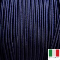 Сутаж премиум Италия 4 мм цвет Blu scuro (тёмно-синий) 1 метр 058696 - 99 бусин