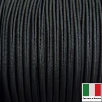 Сутаж премиум Италия 4 мм цвет Nero (чёрный) 1 метр 058697 - 99 бусин