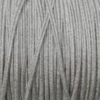 Сутаж премиум Италия 4 мм цвет Silver Metal (серебряный металлик) 1 метр 058698 - 99 бусин