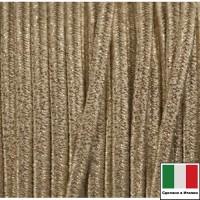 Сутаж премиум Италия 4 мм цвет Oro Metal (золотистый металлик) 1 метр 058699 - 99 бусин