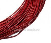 Канитель жесткая (жемчужная) 1,25 мм, цвет красный пр-во Индия, упаковка 5 грамм (общая длина около 0,85 метров) 058701 - 99 бусин