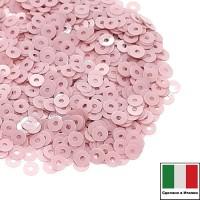 Пайетки 3 мм Италия плоские, цвет 3394 Rosa Antico Opaline 3 грамма (ок.1600 штук) 058703 - 99 бусин