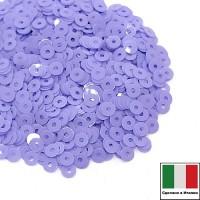 Пайетки 3 мм Италия плоские, цвет 5144 Lilla Opaline 3 грамма (ок.1600 штук) 058705 - 99 бусин