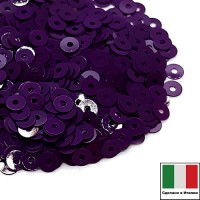 Пайетки 3 мм Италия плоские, цвет 5234 Viola Opaline 3 грамма (ок.1600 штук) 058706 - 99 бусин