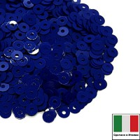 Пайетки 3 мм Италия плоские, цвет 6774 Blu Eletrico Opaline 3 грамма (ок.1600 штук) 058707 - 99 бусин