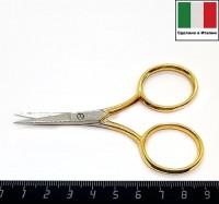 Ножницы вышивальные Италия модель № 240 Rimini размер 9 см позолота, лезвия хром 058715 - 99 бусин