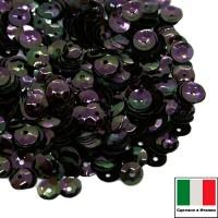 Пайетки 5 мм Италия форма чаша, цвет 5020 Scarabeo Orientale 3 грамма (ок.600 штук) 058726 - 99 бусин
