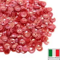 Пайетки 5 мм Италия форма чаша, цвет 0154 Rosso Orientale 3 грамма (ок.600 штук) 058727 - 99 бусин