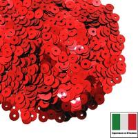 Пайетки 4 мм Италия плоские цвет 4061 Rosso Metallizzati 3 грамма (ок. 900 штук) 058730 - 99 бусин
