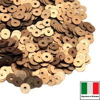 Пайетки 4 мм Италия плоские цвет 866W Oro Antico Satinato (Темное золото сатин) 3 грамма (ок. 900 штук) 058749 - 99 бусин
