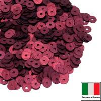 Пайетки 4 мм Италия плоские цвет436W Bordeaux Satinato (Бордо сатин) 3 грамма (ок. 900 штук) 058750 - 99 бусин