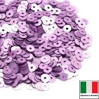 Пайетки 4 мм Италия плоские цвет 506W Lilla Satinato (Лиловый сатин) 3 грамма (ок. 900 штук) 058754 - 99 бусин