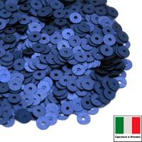 Пайетки 4 мм Италия плоские цвет 616W Bluette Satinato (Королевский синий сатин) 3 грамма (ок. 900 штук) 058756 - 99 бусин