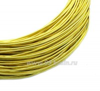 Канитель  жесткая 1,3 мм, цвет лимонное золото, пр-во Индия, упаковка 5 граммов (разные отрезки, общая длина около 0,8 метров) 058773 - 99 бусин