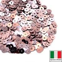 Пайетки 4 мм Италия плоские цвет 3071 Rosa antico Metallizzato (Античная роза металлик) 3 грамма (ок.900 штук) 058776 - 99 бусин