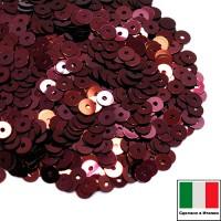 Пайетки 4 мм Италия плоские цвет 4071 Bordeaux Metallizzati (Бордо металлик) 3 грамма (ок.900 штук) 058778 - 99 бусин