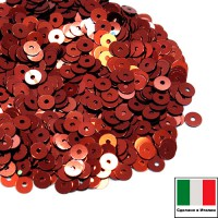 Пайетки 4 мм Италия плоские цвет 8171 Bronzo Metallizzato (Бронза металлик) 3 грамма (ок. 900 штук) 058781 - 99 бусин