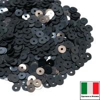 Пайетки 4 мм Италия плоские цвет 9131 Chiaro luna Metallizzato (Свет луны металлик) 3 грамма (ок. 900 штук) 058782 - 99 бусин