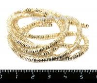 Канитель (трунцал) 3 мм цвет светлое золото в баночке, упаковка 5 грамм (около 55 см) 058787 - 99 бусин