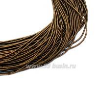 Канитель гладкая матовая 1 мм, цвет темная бронза MK-24, пр-во Индия, упаковка 5 граммов (разные отрезки, общая длина около 2,5 метров) 058790 - 99 бусин