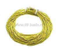 Канитель ОПТ 1 мм мягкая матовая, цвет MК-07 лимонный 50 граммов/упаковка Индия 058797 - 99 бусин