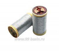 Нитки металлизированные №40 Fil au Chinos Китайский император - цвет 322 иней Франция 100 метров/катушка 058805 - 99 бусин