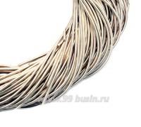 Канитель гладкая матовая 1 мм цвет кремовый MK-03, упаковка около 2,5 м/5 грамм 058807 - 99 бусин