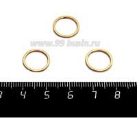 Коннектор нержавеющая сталь Колечко 12*1 мм покрытие оксид титана, цвет золото 1 штука 058816 - 99 бусин
