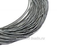 Канитель гладкая матовая 1 мм, цвет стальной серый MK-14, пр-во Индия, упаковка 5 граммов (разные отрезки, общая длина около 2,5 метров) 058832 - 99 бусин