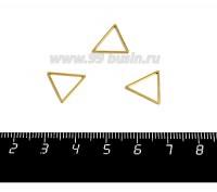 Коннектор нержавеющая сталь оксид титана Треугольник 14*12*1 мм цвет золото 1 штука 058955 - 99 бусин