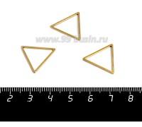Коннектор нержавеющая сталь оксид титана Треугольник 18*16*1 мм цвет золото 1 штука 058956 - 99 бусин