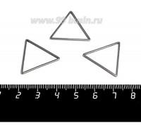 Коннектор нержавеющая сталь Треугольник большой 23*20*1 мм цвет стальной 1 штука 059004 - 99 бусин