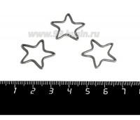 Коннектор нержавеющая сталь Звезда 20*20*1 мм цвет стальной 1 штука 059006 - 99 бусин
