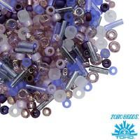 Бисер TOHO Beads Mix, цвет 3216 Kimono- Lilac, в баночке, 10 грамм 059041 - 99 бусин