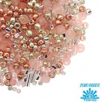 Бисер TOHO Beads Mix, цвет 3213 Bara- Rose, в баночке, 10 грамм 059047 - 99 бусин