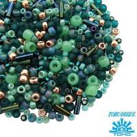 Бисер TOHO Beads Mix, цвет 3222 Tatsu-Teal, в баночке, 10 грамм 059048 - 99 бусин