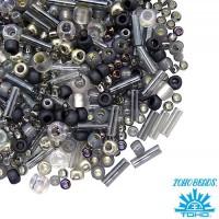 Бисер TOHO Beads Mix, цвет 3211 Tenin-Gray/Gold, 10 грамм/упаковка 059051 - 99 бусин