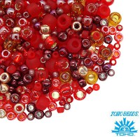 Бисер TOHO Beads Mix, цвет 3208 Momiji - Red, 10 грамм/упаковка 059052 - 99 бусин