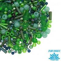 Бисер TOHO Beads Mix, цвет 3221 Wasabi - Green, 10 грамм/упаковка 059053 - 99 бусин