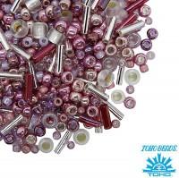 Бисер TOHO Beads Mix, цвет 3215 Hime-Pink, 10 грамм/упаковка 059054 - 99 бусин