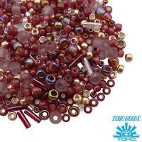 Бисер TOHO Beads Mix, цвет 3217 Kokoro Mauve Gold, 10 грамм 059055 - 99 бусин
