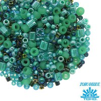 Бисер TOHO Beads Mix, цвет 3203 Take-Seafoam/Green 10 грамм/упаковка 059056 - 99 бусин