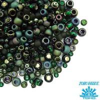 Бисер TOHO Beads Mix, цвет 3209 Bonsai - Green/Black, 10 грамм/упаковка 059057 - 99 бусин